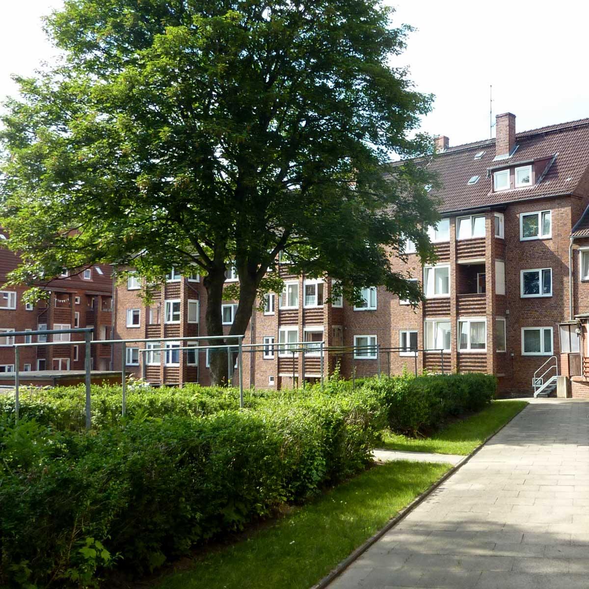 Wege im Innenhof der Häuser Braustraße und Streitkamp