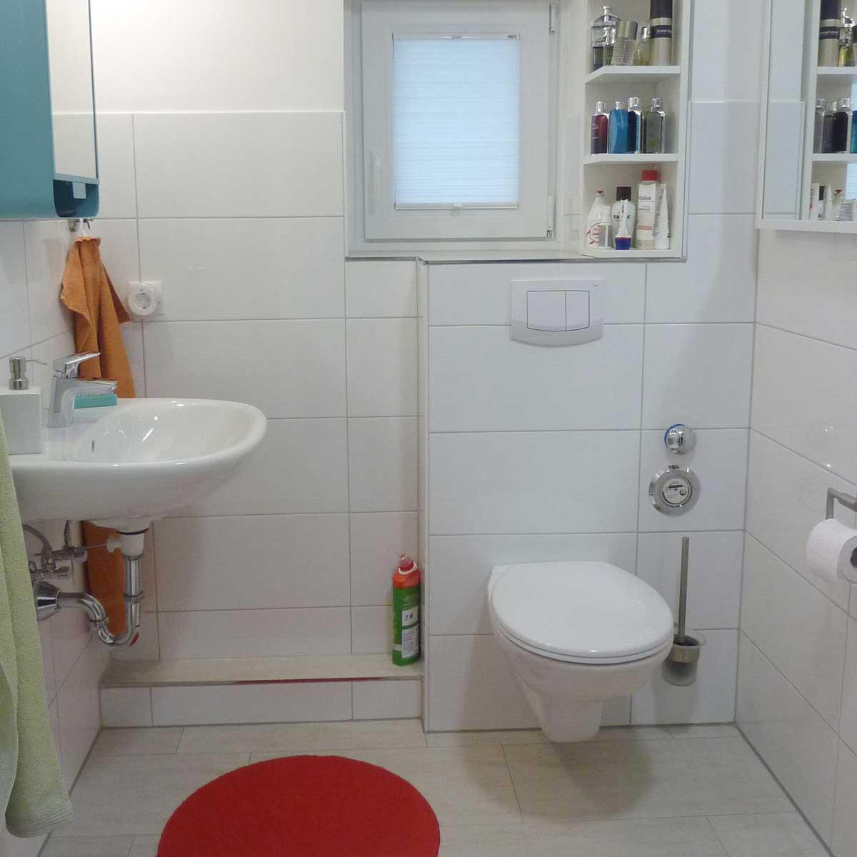 Badezimmer eines Mieters der Baugenossenschaft Kiel Hassee