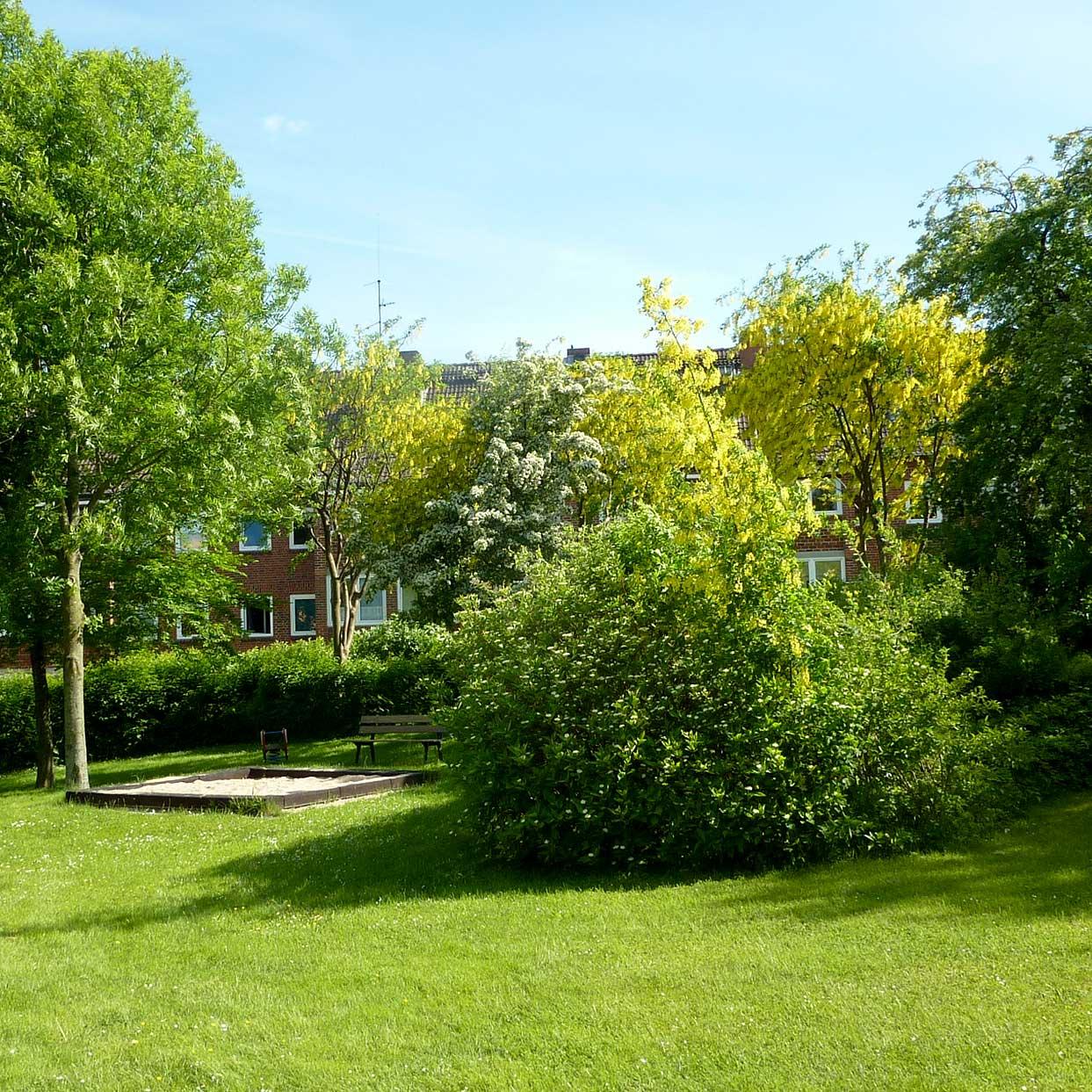 Blick auf den Innenhof der Gärtner- Braustrasse | BGH Kiel