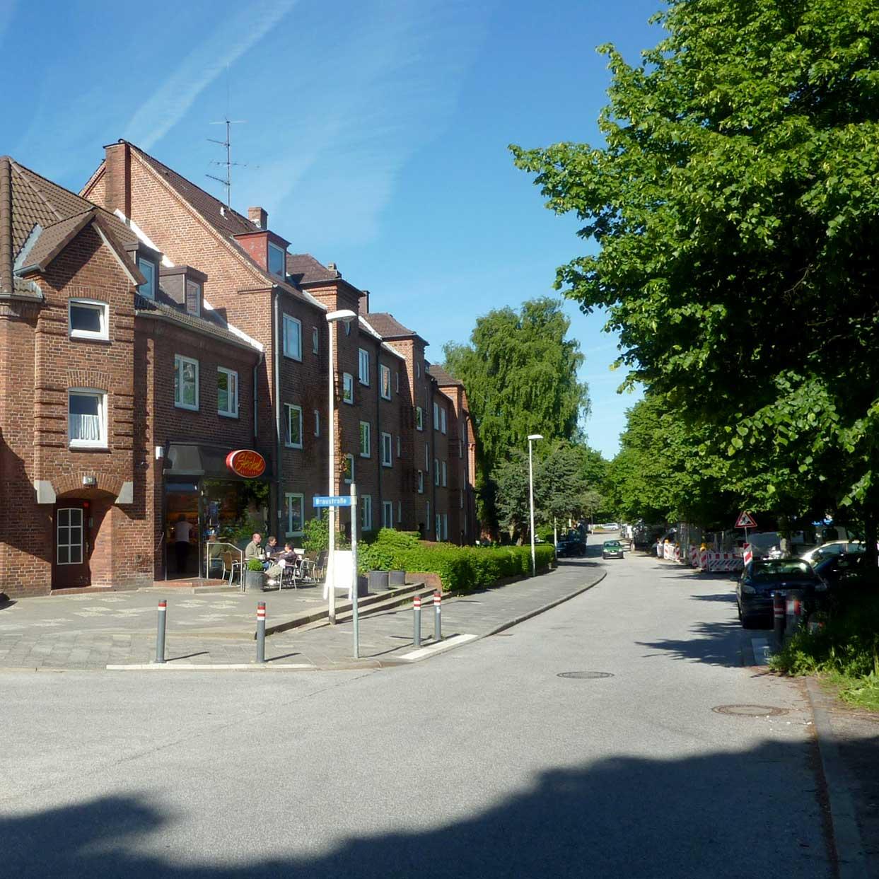 Wohnen mit der Baugenossenschaft Kiel Hassee, Imbiss beim Bäcker