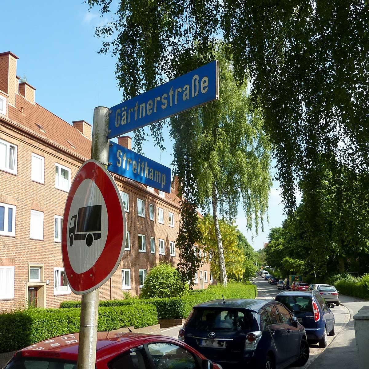 Wohnungen der Baugenossenschaft Kiel Hassee eG | Streitkamp Ecke Gärtnerstraße