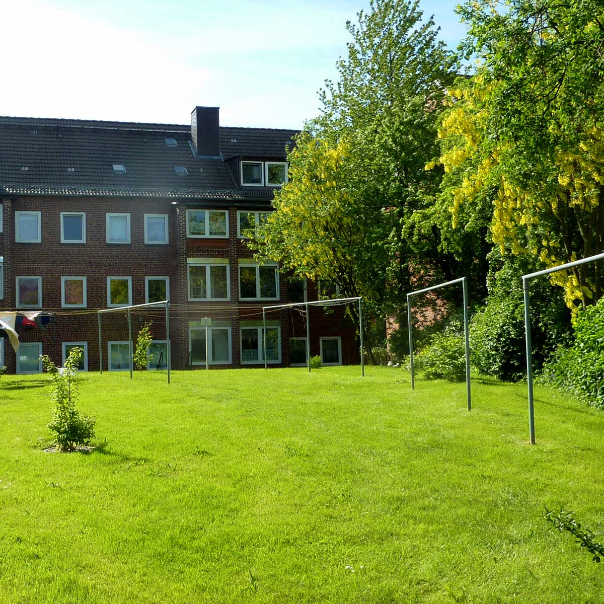 Hofansicht der Häuser Rendsburger Landstrasse 94-96 der BGH-Kiel