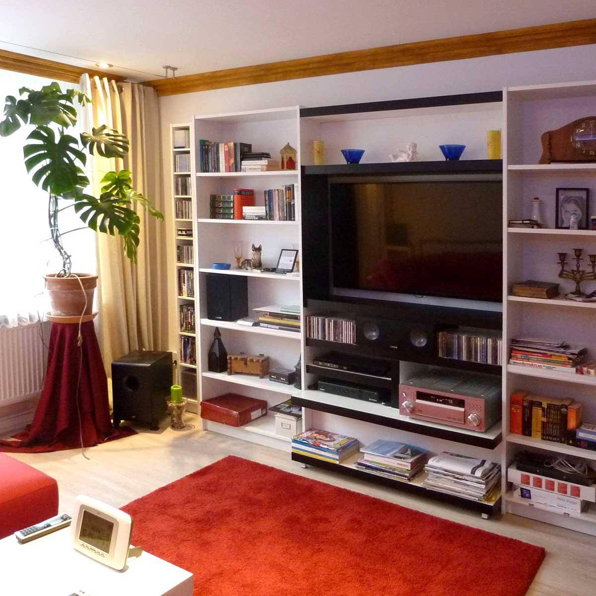 Wohnzimmer eines Mieters der Baugenossenschaft Kiel Hassee